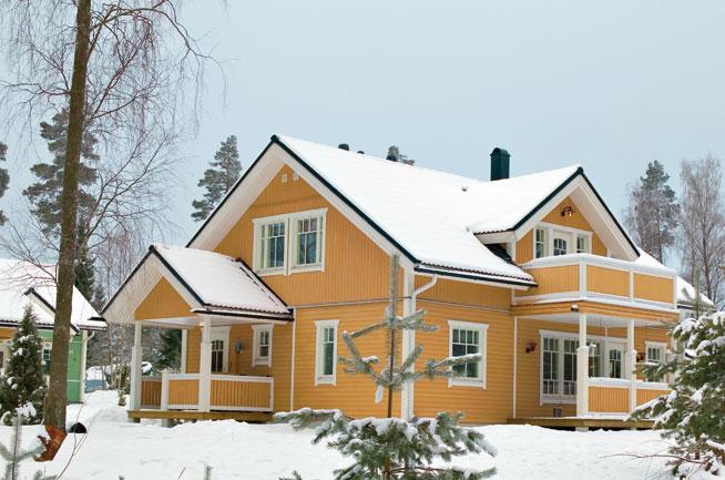 Загородные дома, финские дома, коттеджи из клееного бруса , коттеджные